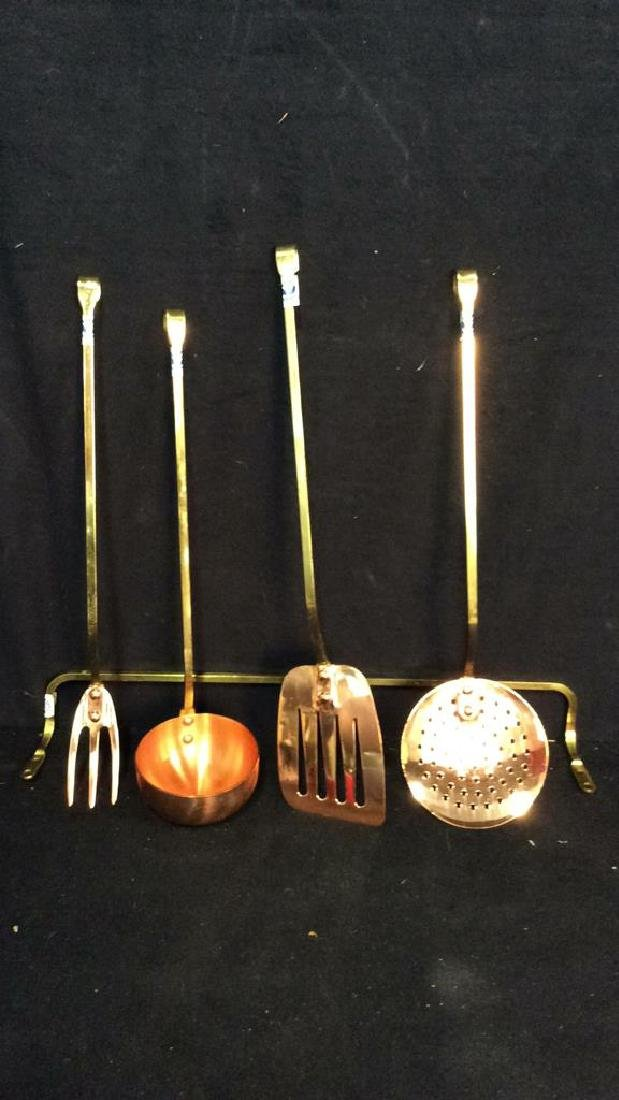 Group 5 DAEWOO Copper Kitchenware Untencils