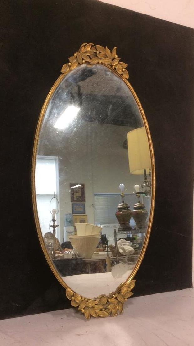 Mirrored Gold Tone Dresser Vanity Tray