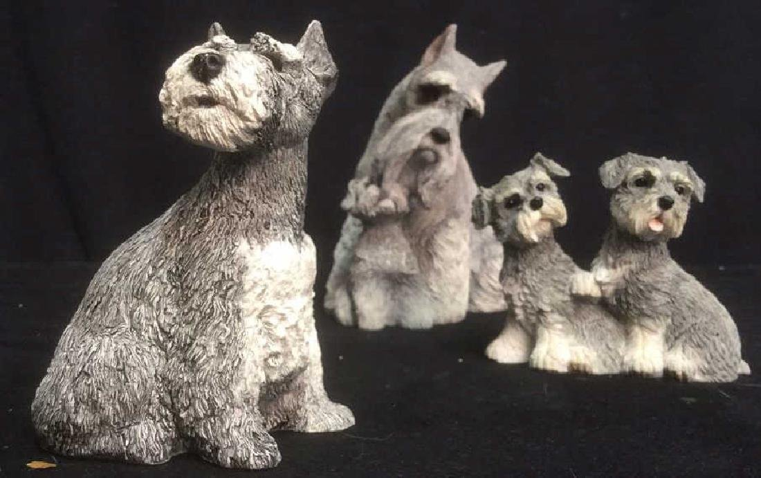 Group Lot of 3 Schnauzer Dog Lover Figurines