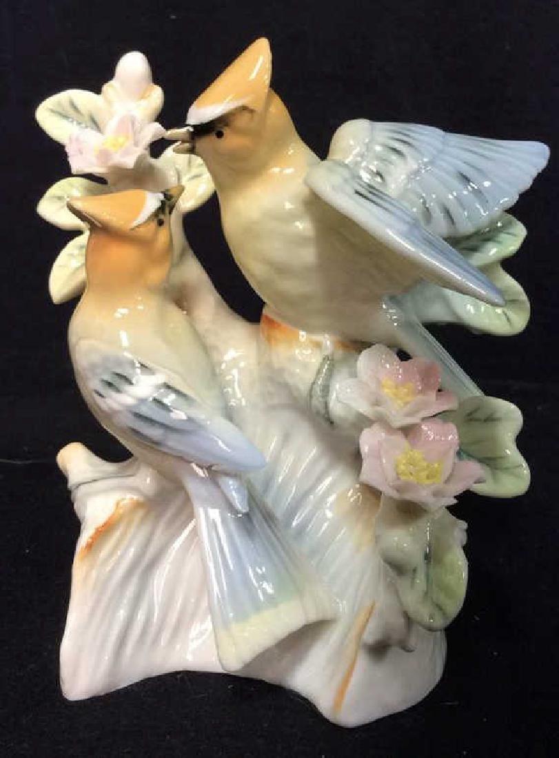 Vintage Porcelain Bird Floral Palm Beach Decor
