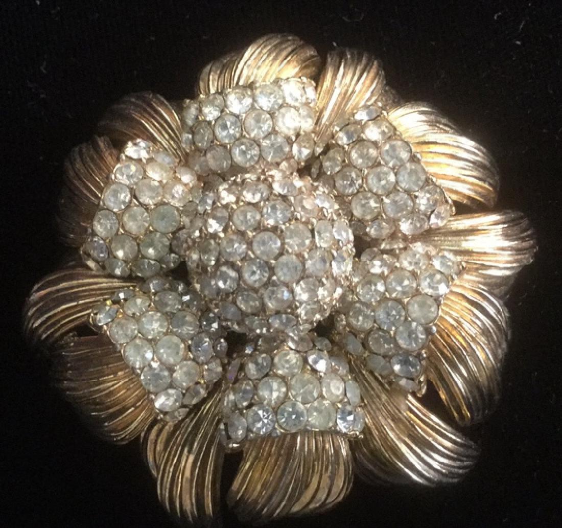 CINER Estate Jewelry Rhinestone Brooch