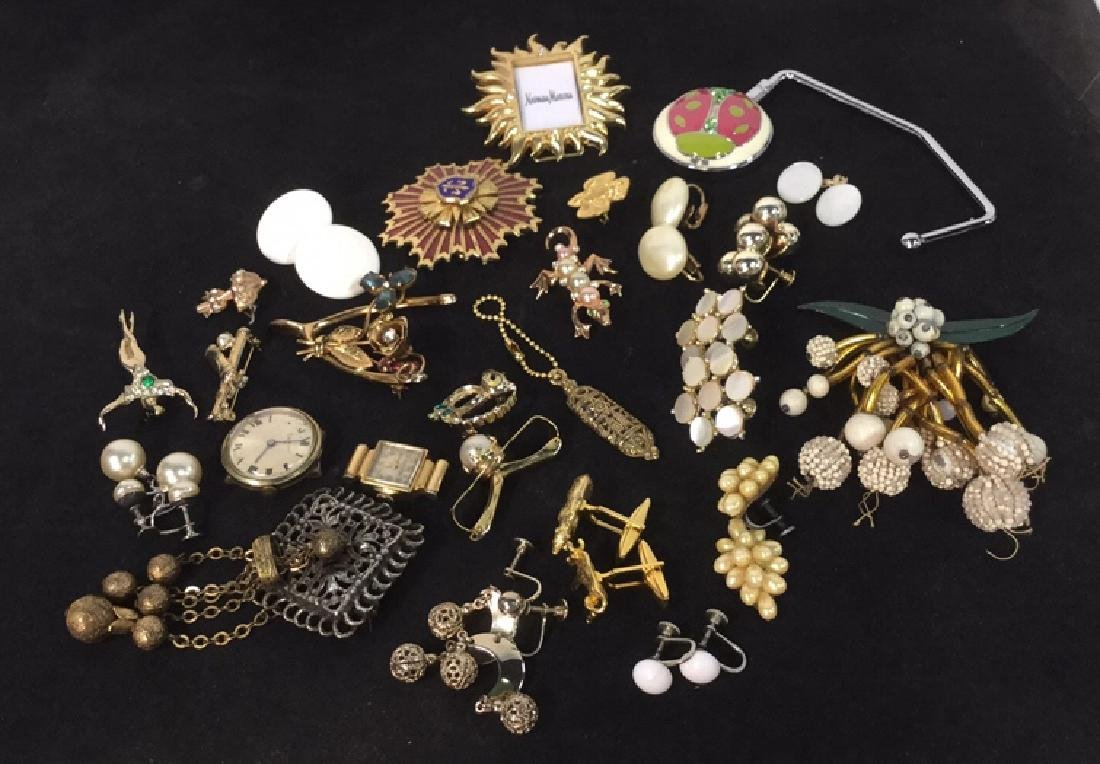 Lot 27 Assorted Estate Jewelry Brooches & More