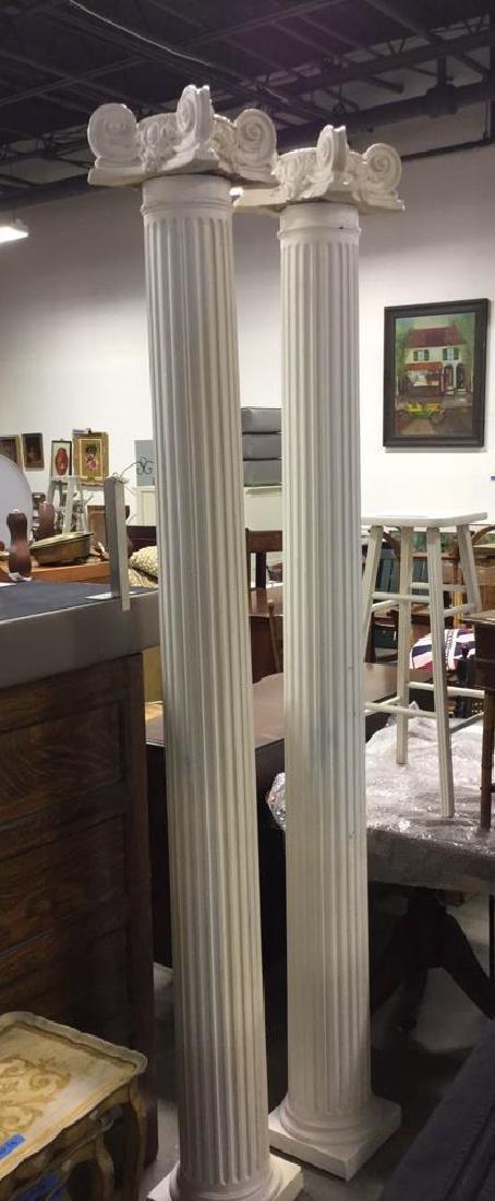Pair Decorative Architectural Columns