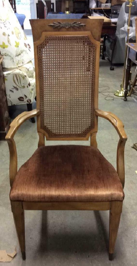 Group 6 Wooden Caned Back Chairs