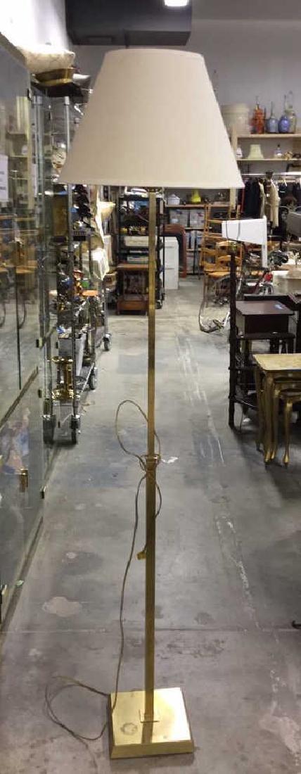 Extendable Brass Floor Lamp