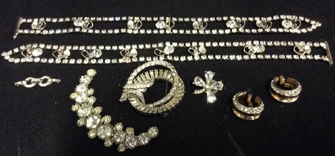 Lot 8 Asstd state Rhinestone Snippets & Jewelry