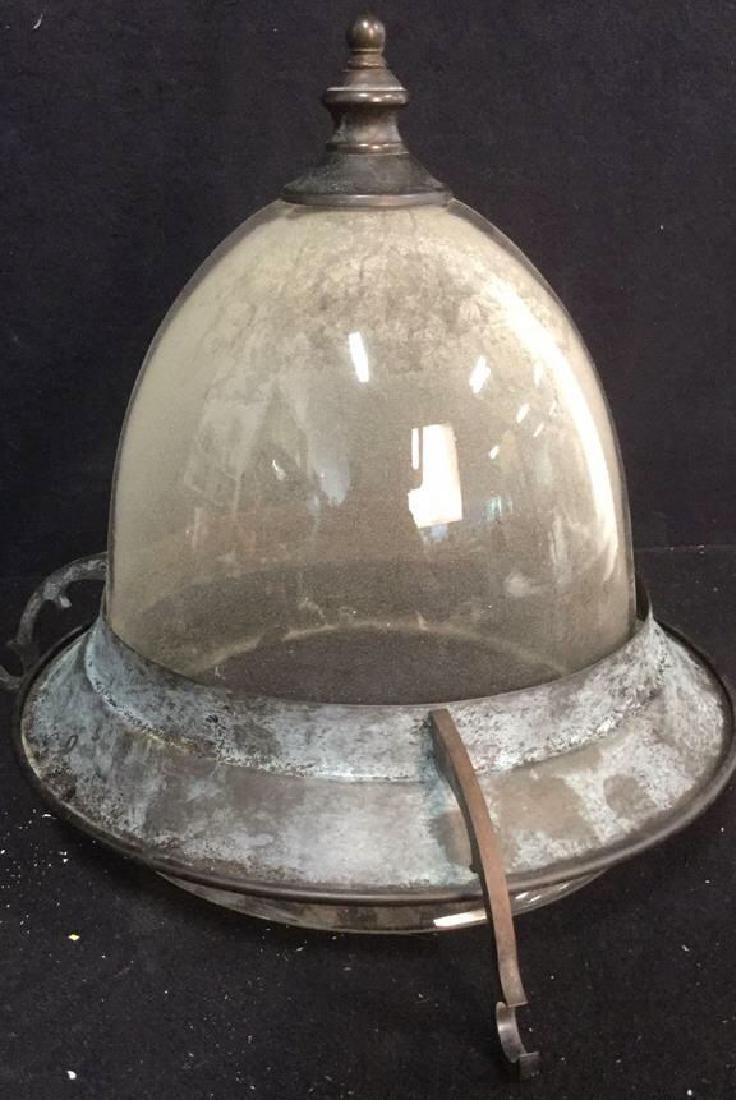 Glass & Metal Ceiling Lantern