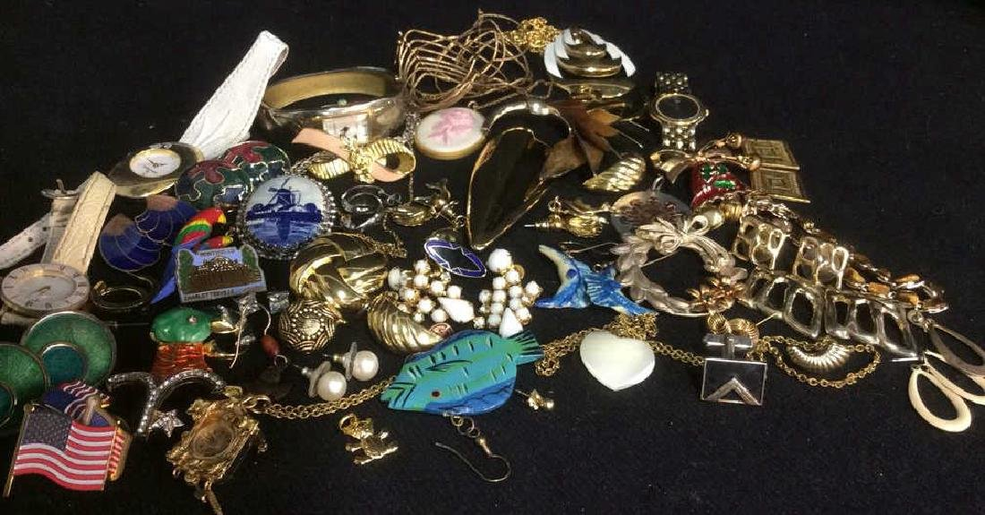 Group lot of Vintage and Costume Jewelry