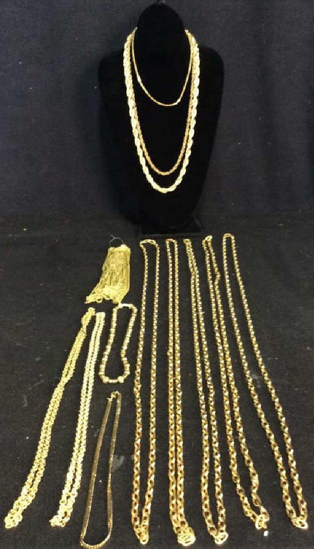 Lot 24 Jewelers group faux gold link chains