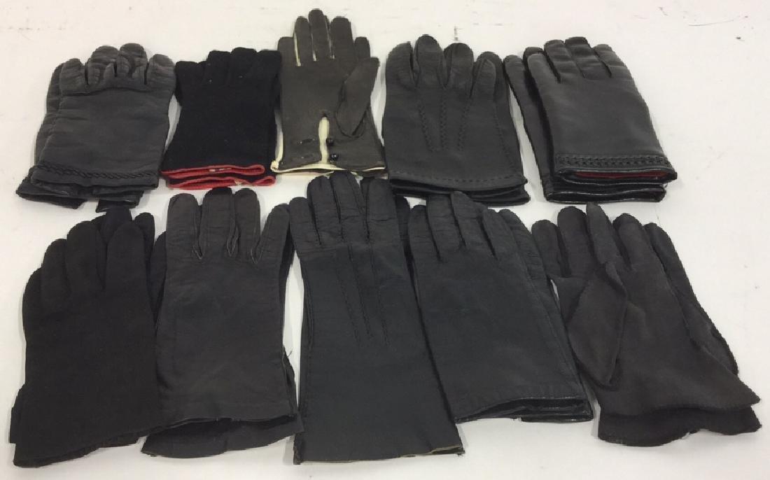 Group 10 Vintage Black Gloves