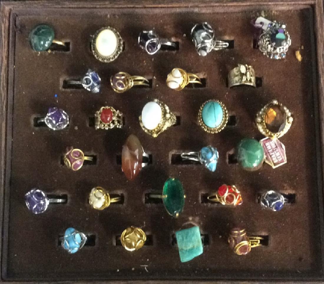 Jewelers Lot of Stone Vintage Rings