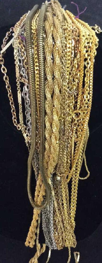 24 Jewelers group Costume gold link chains