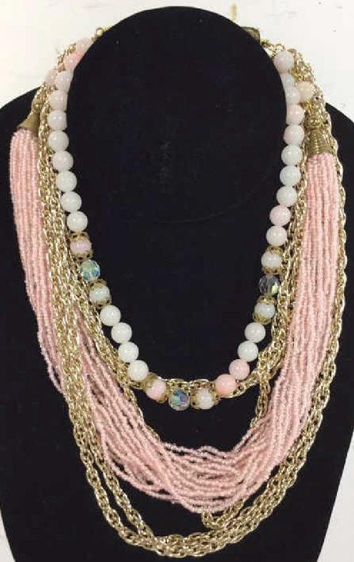 Jewelers Lot Mixed Material Necklace