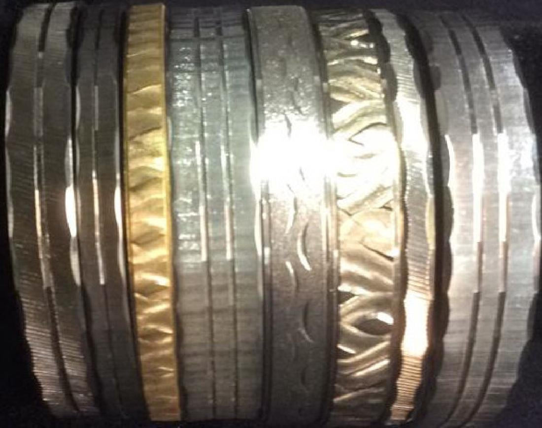 Group 8  Gold and Silver Toned Bangle Bracelets