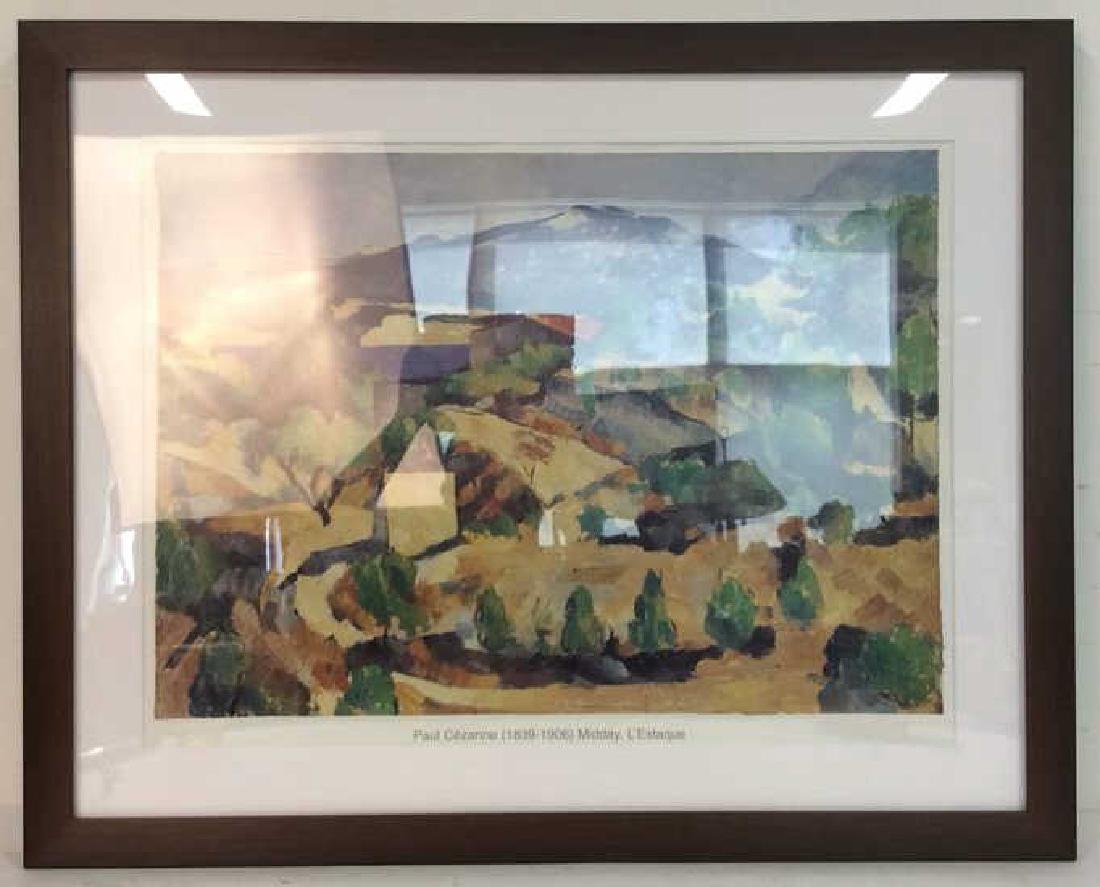 PAUL CEZANNE MIDDAY, L'ESTAQUE Framed Print