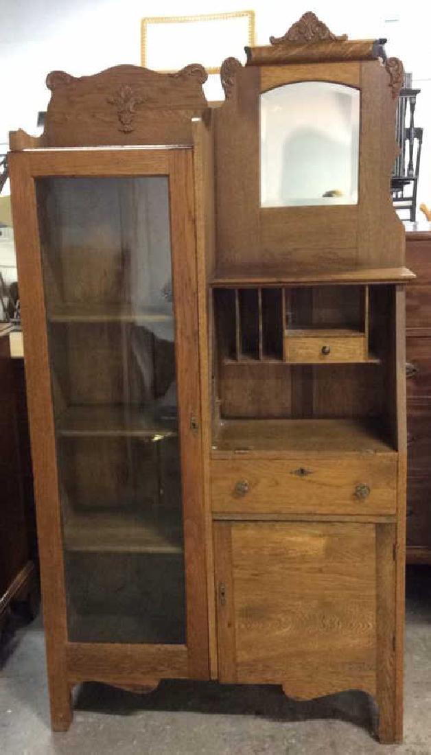 Antique Side by Side Secretary Desk Cabinet