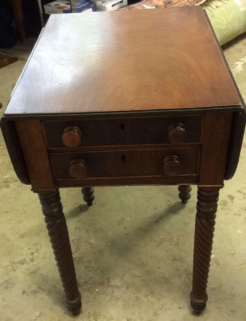 Antique Sheraton Drop Leaf Side Table