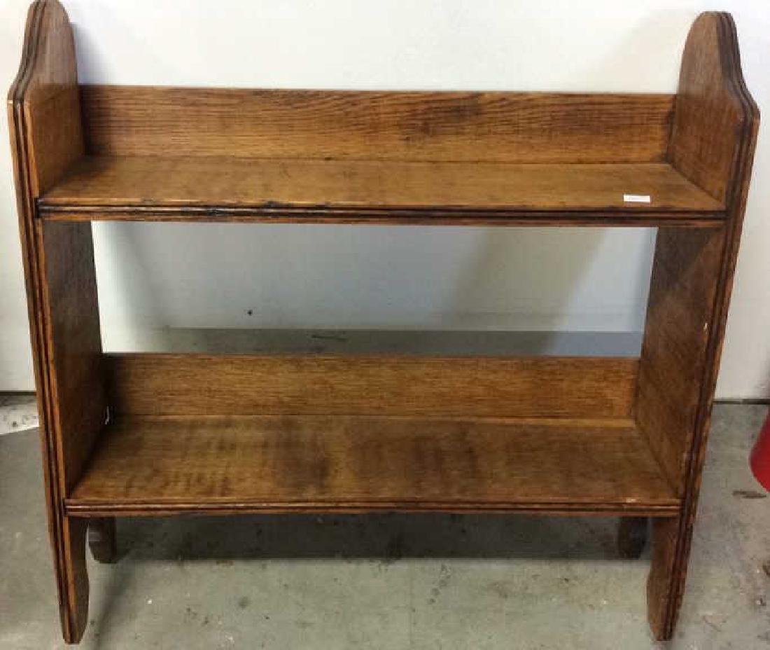 Antique standing  Wood Display Shelf