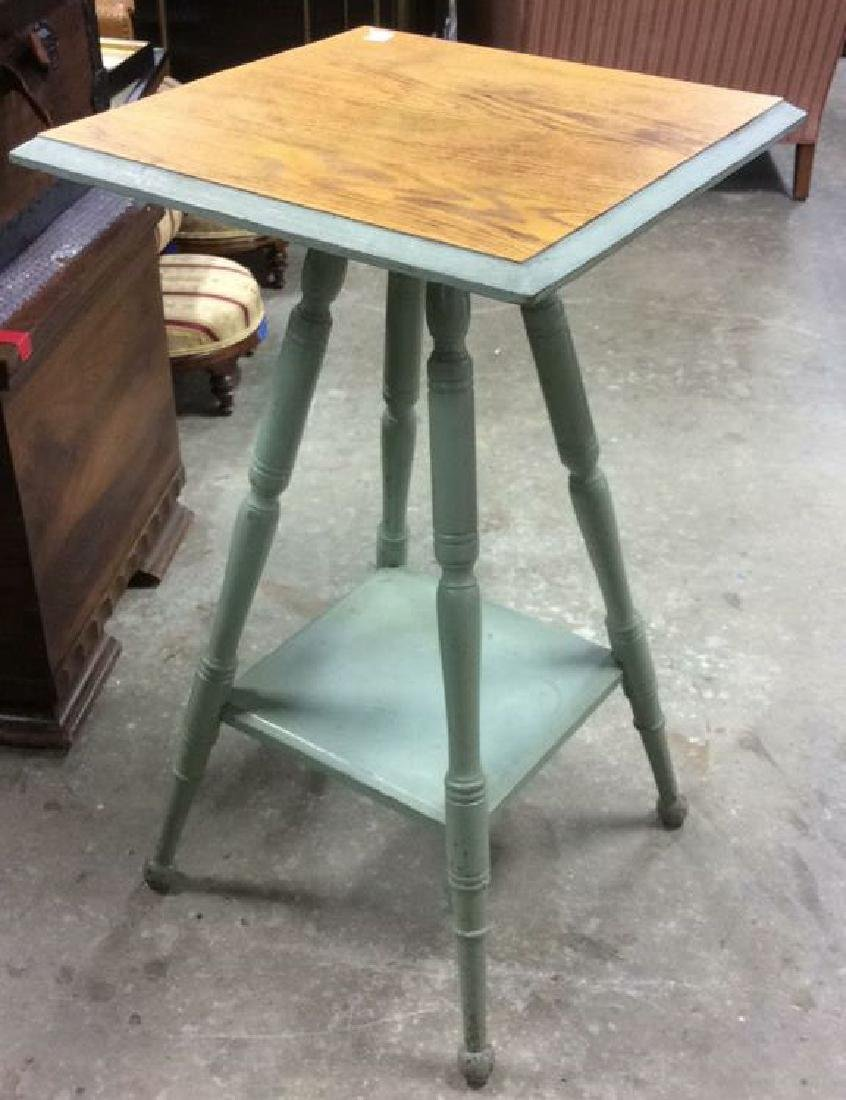 Country Style Painted End Table