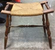 Antique Rush Seat Bench
