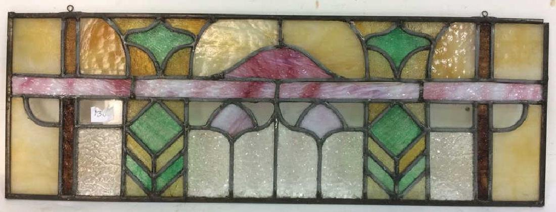 Arts and Crafs Stained Glass Window Section