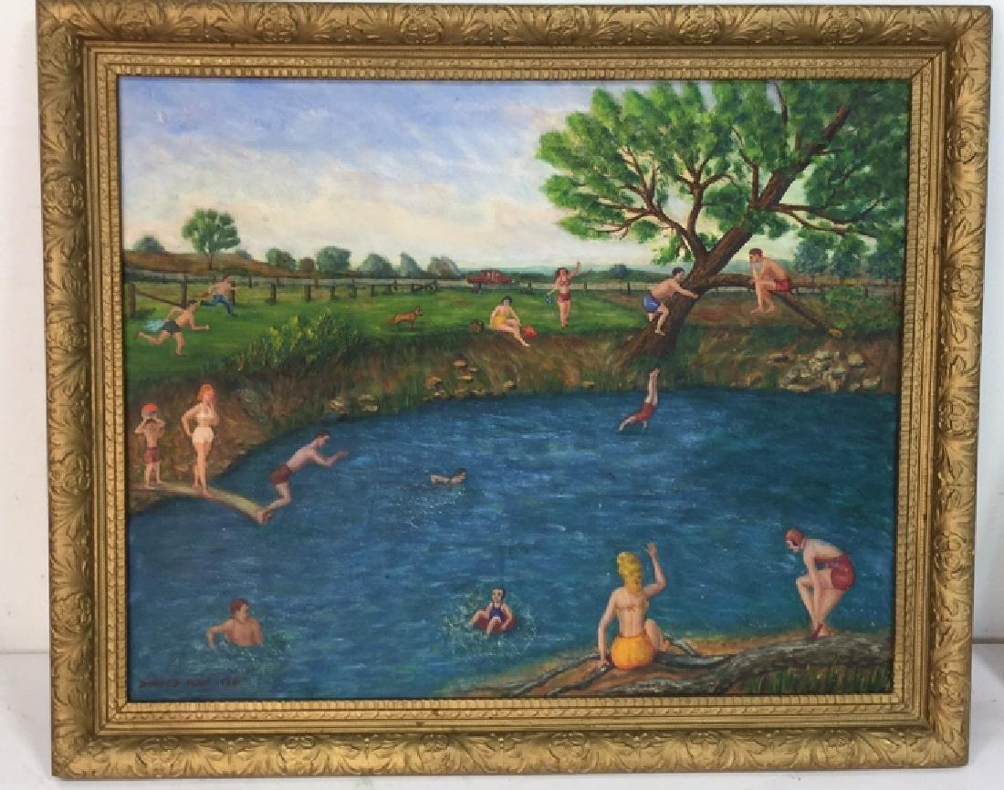 DONALD AULT Framed Oil On Canvas