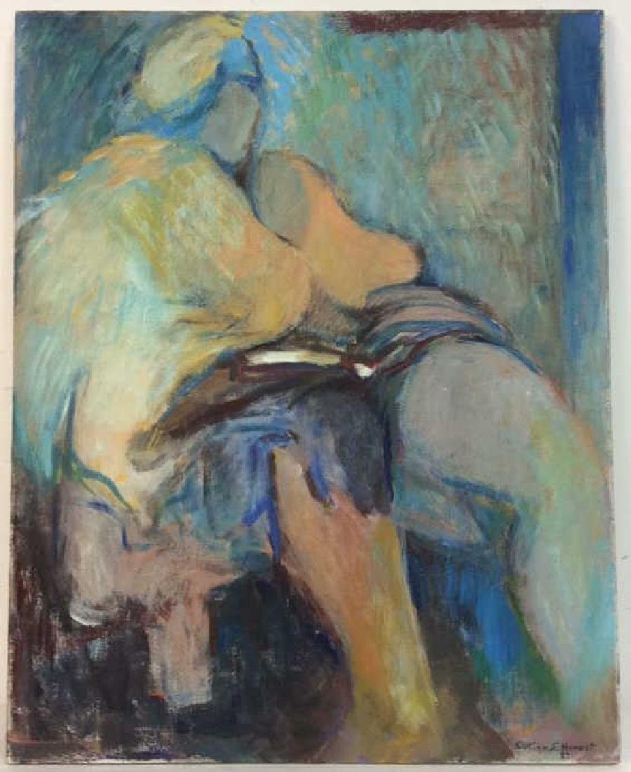EVELYN S HONEST, Seted Woman Painting on