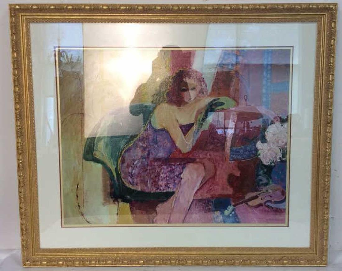 """SABZI,"""" DAYDREAM"""" SignedGICLEE Lithograph on Paper"""
