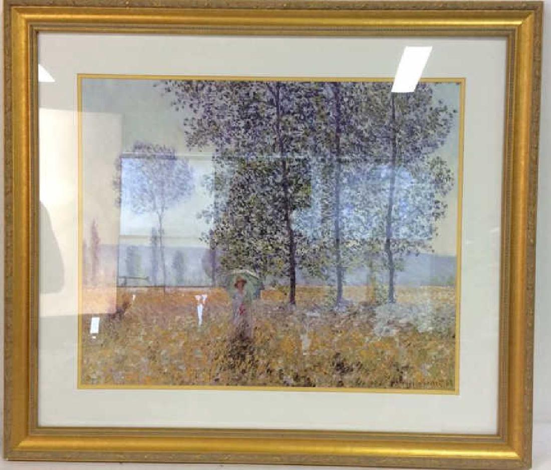 Claude Monet Gold leafed Framed Print