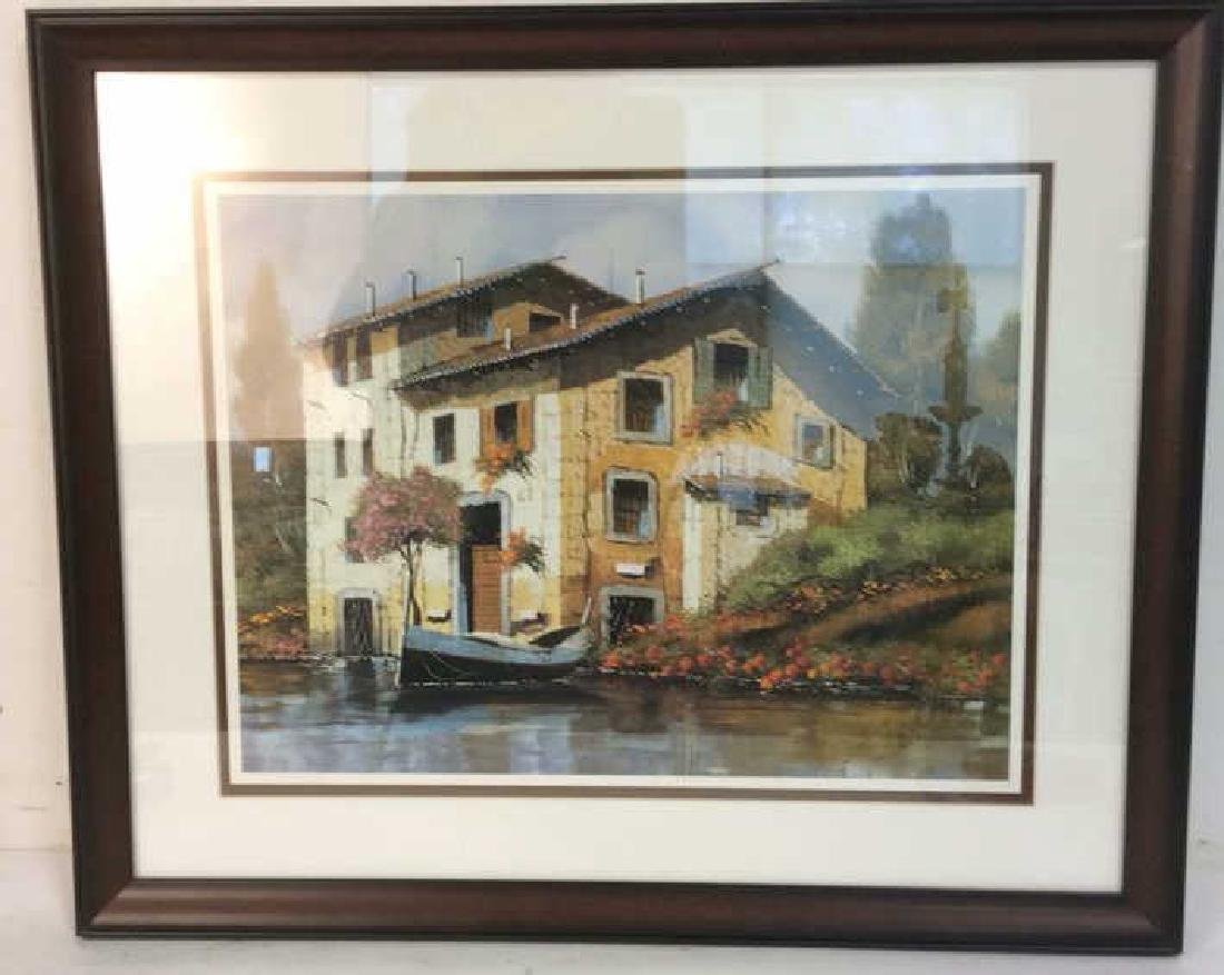 GUIDO Borelli,  Offset Lithograph, River Reflectio