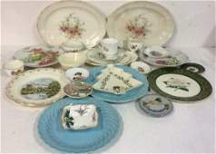 Group Lot Vintage Platters and Plates