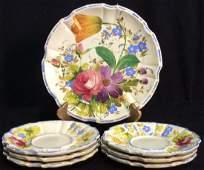 Lot 7 Handpainted Ceramic Plates Saucers Italy