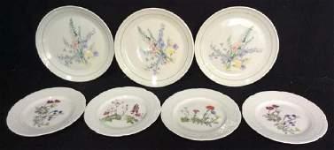 Ceramic Porcelain Floral Tabletop Plates