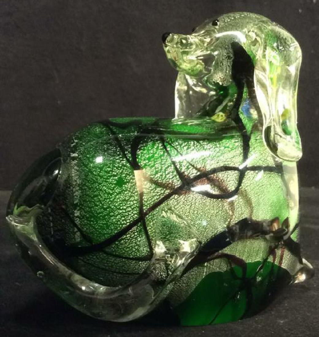 Venetian Glass Dog Sculpture