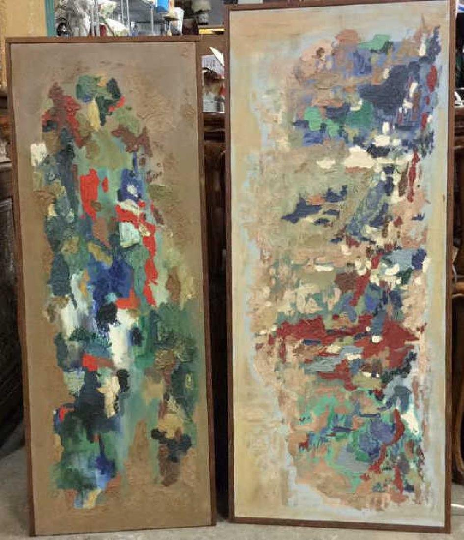 Pair STROMBERG Abstract Paintings, 1960