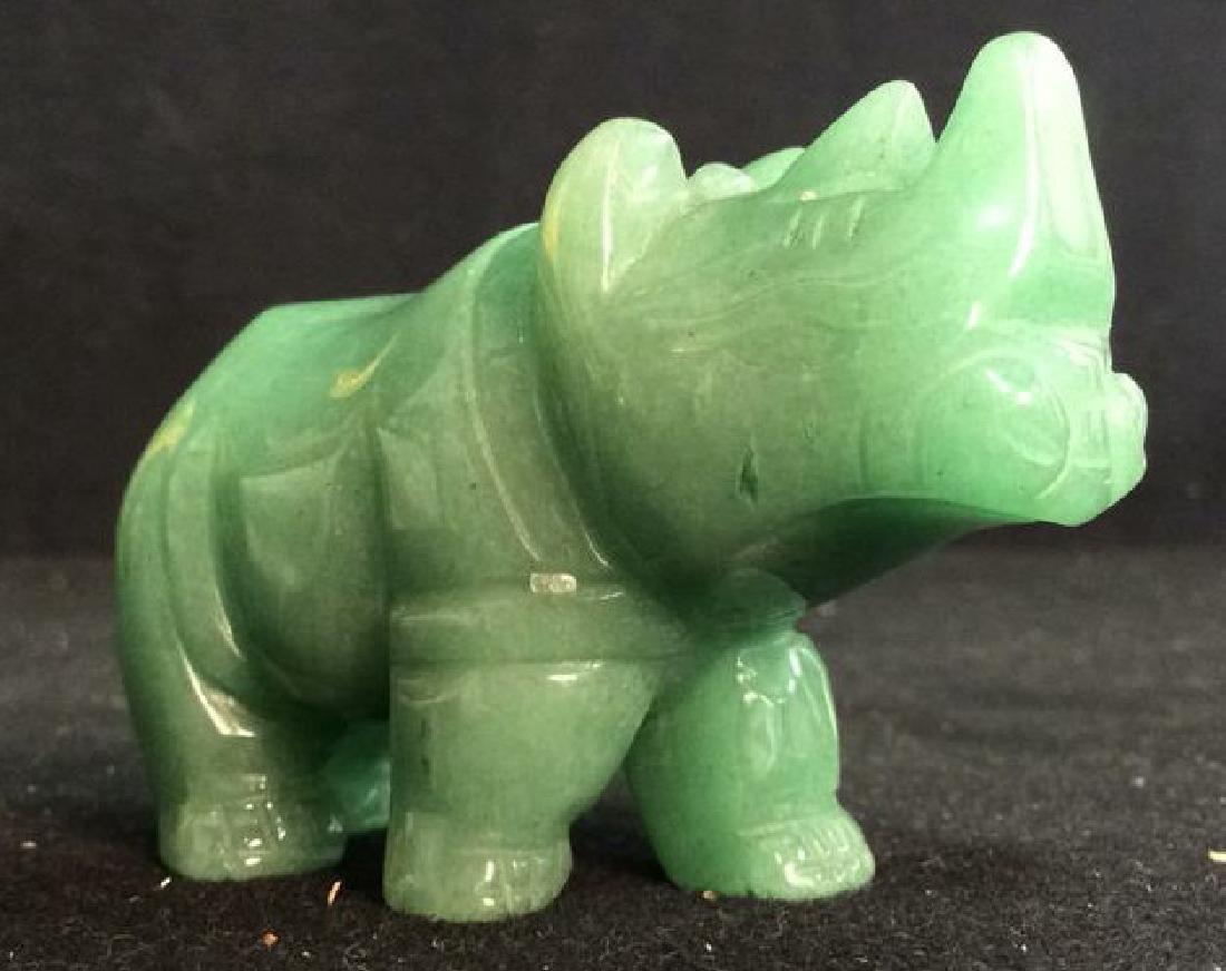 Green Stone Jadeite Rhino