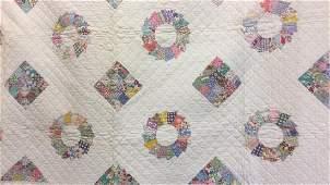 Pair Vintage Childs Handmade Quilts Dresden