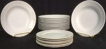 Lot 18 White Toned Ceramic Porcelain Dining Set