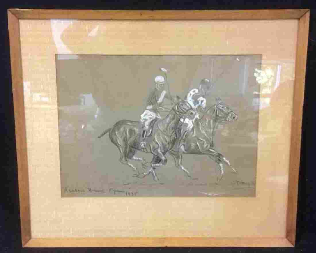 Warren T Halpin Charcoal Drawing 1935