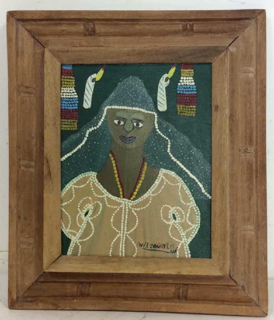 Signed Framed Haitian Art - 2