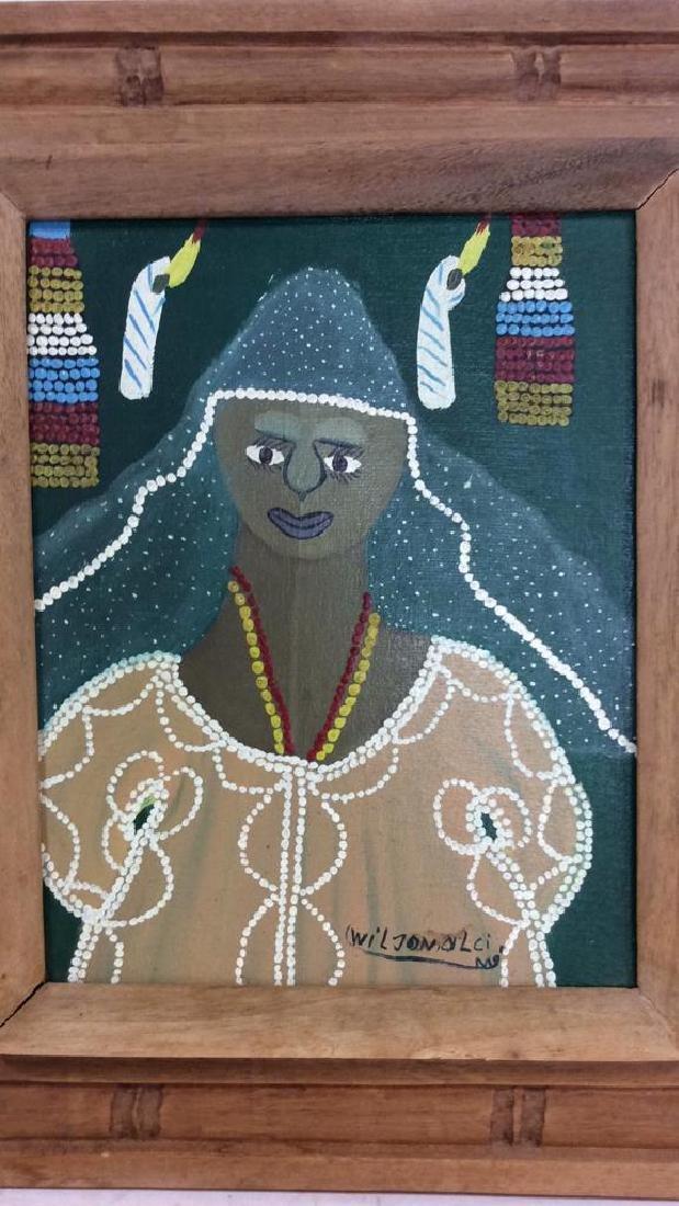 Signed Framed Haitian Art - 4