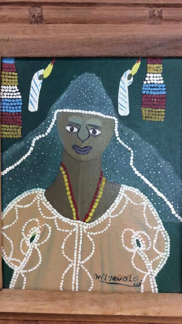 Signed Framed Haitian Art - 5