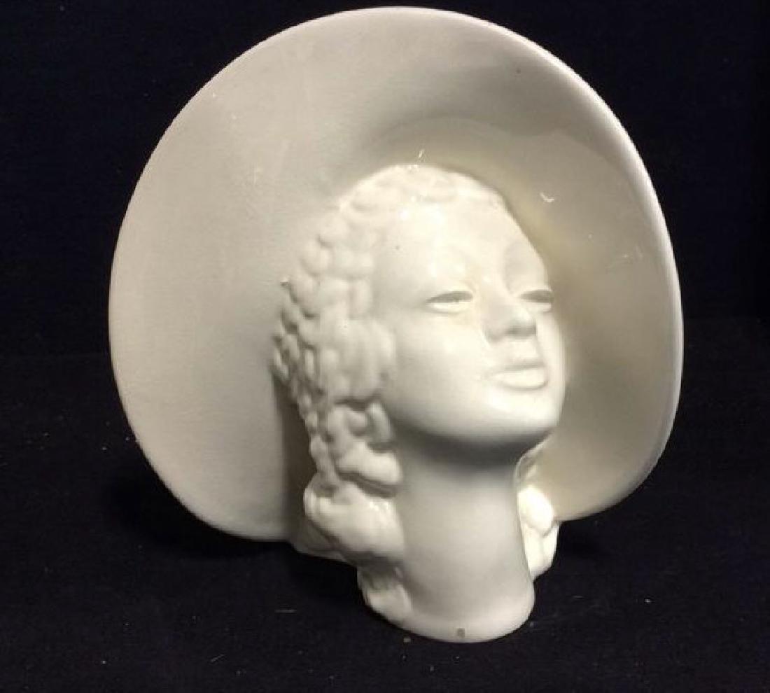 3 Vintage Lady Head Vases - 5