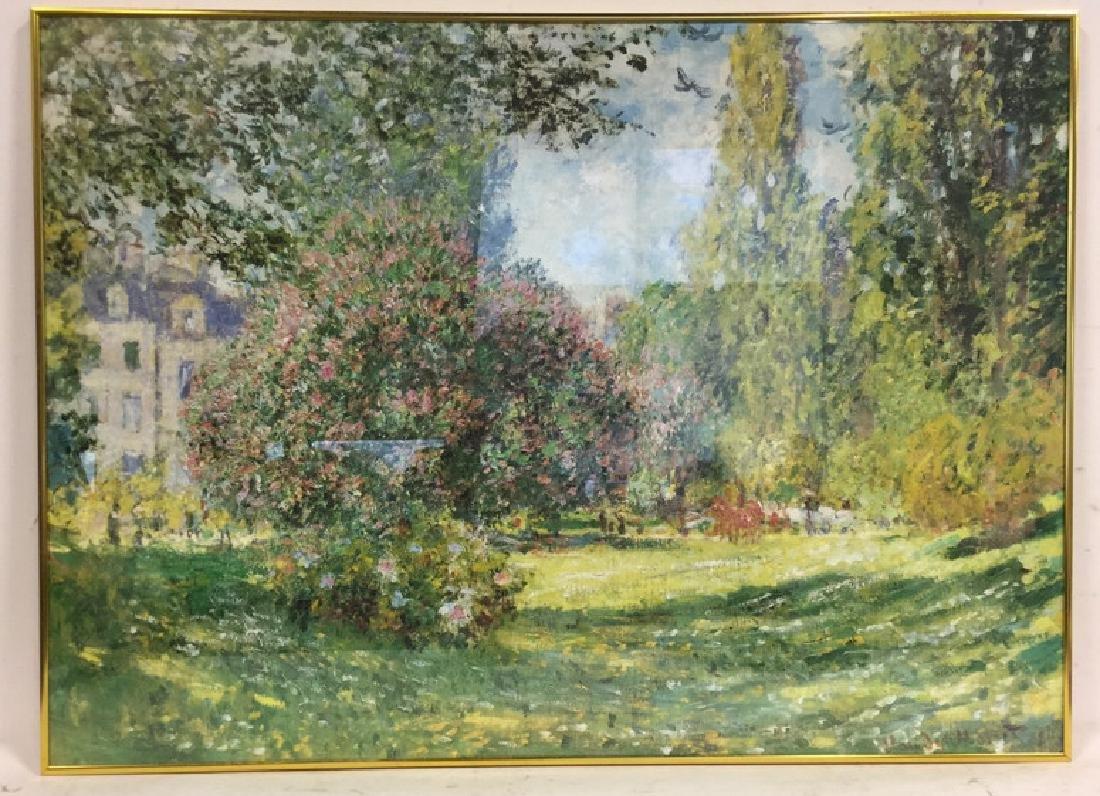 MONET Parc Monceau Framed Print