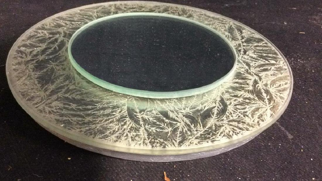Silver Leafed Round Mirror - 3
