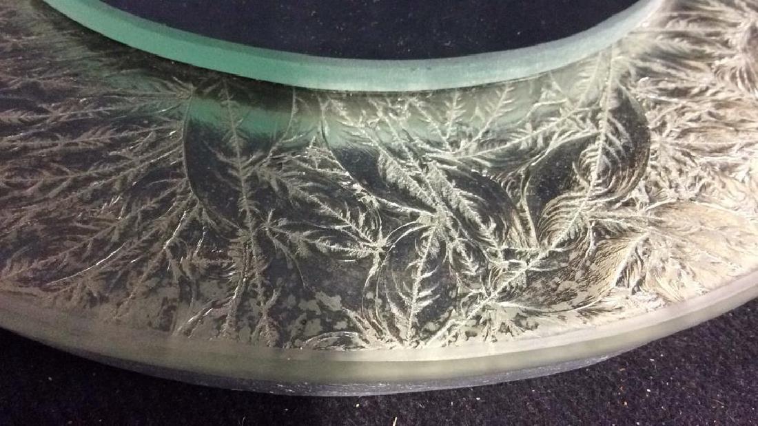 Silver Leafed Round Mirror - 4