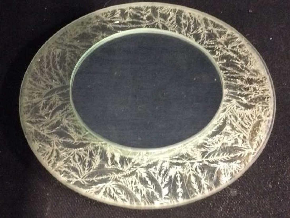 Silver Leafed Round Mirror - 7
