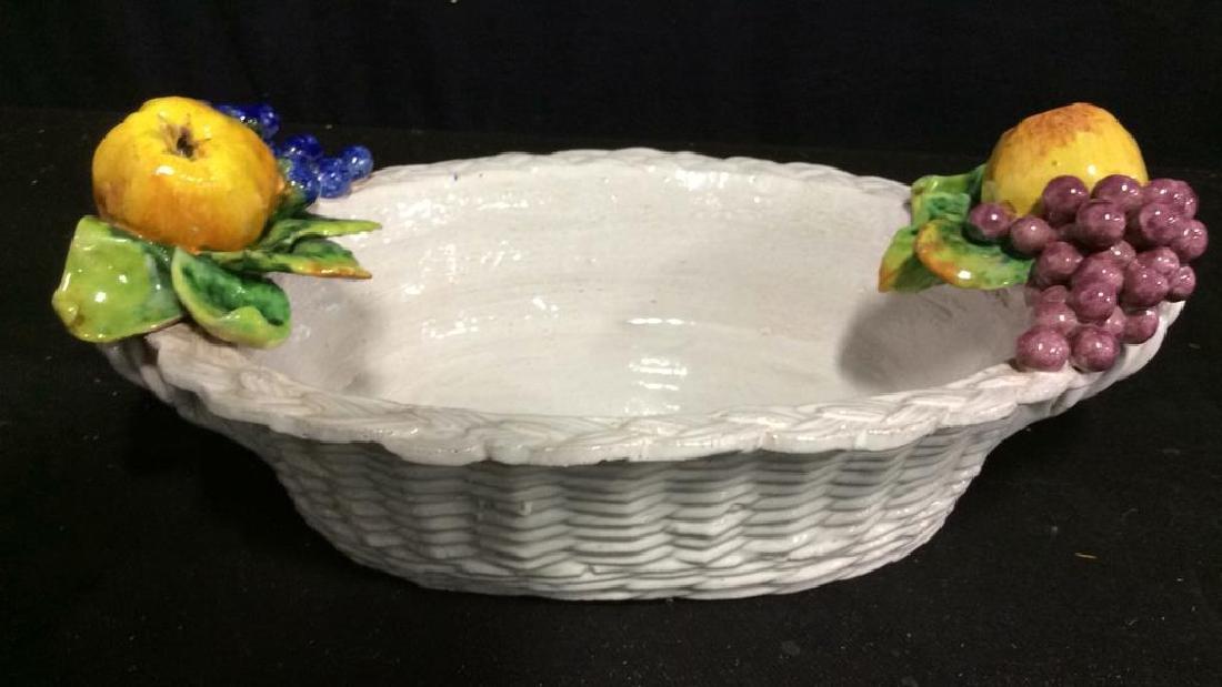 Trompe L'Oueil Ceramic Fruit Basket