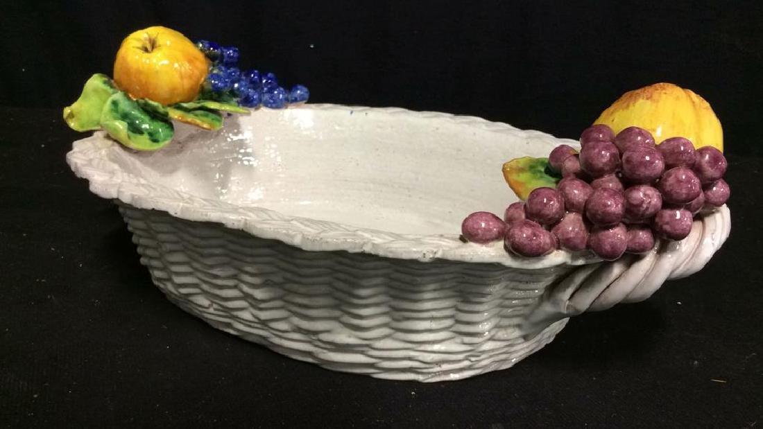 Trompe L'Oueil Ceramic Fruit Basket - 4