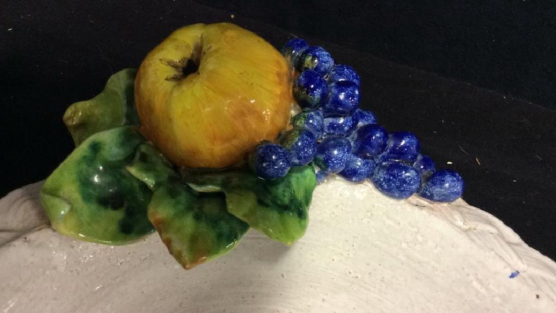 Trompe L'Oueil Ceramic Fruit Basket - 5